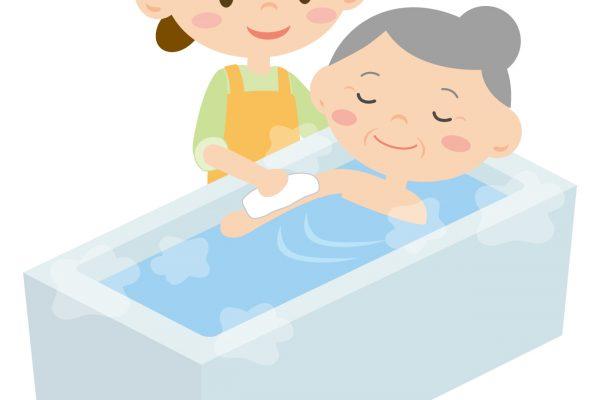 入浴介助 その1≪基本の流れ(一般浴)≫ イメージ