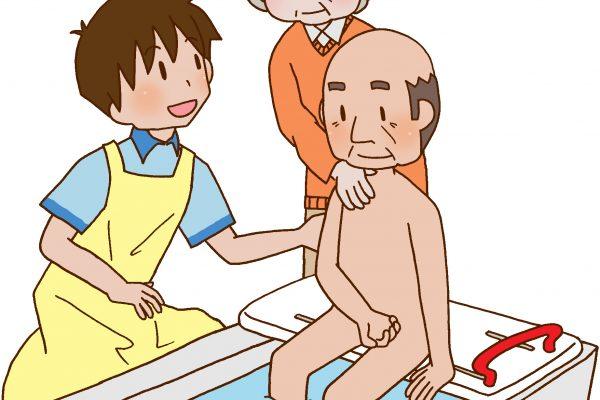 入浴介助 その3≪部分浴(手浴)≫ イメージ